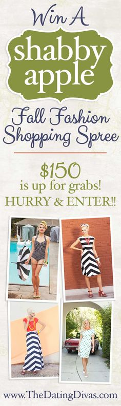 You could WIN a Fall Fashion Shopping Spree to Shabby Apple! Click on the picture to fill out the form to enter!