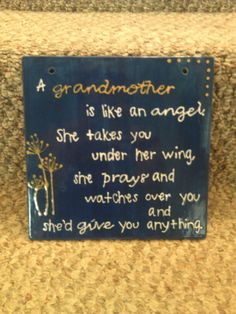 """Mothers Day!! Grandmother Wall Hanging Quote by TheSedulousSisters, $15.00 Customize it for you and your family! Pick the colors and the name (maybe """"grandmother"""" doesn't suit your needs)"""