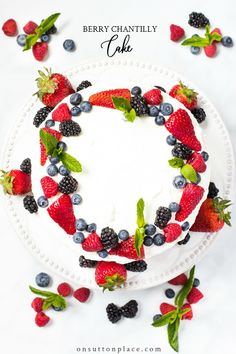A simplified Berry Chantilly Cake Recipe that uses short cuts for quick prep ~