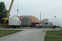 Transporting Monolithic Dome Cabins