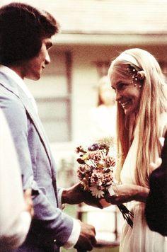 Patrick Swayze & Lisa Niemi on their wedding day 2 June 1975
