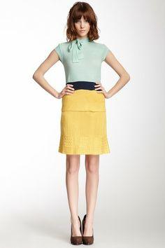 Freeway Colorblock Peplum Knit Dress on HauteLook