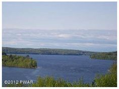 """HOLIDAY BLITZ NOW $235,000 OWNER SAYS MAKE OFFER! 11+acres with A """"Breathless"""" 180 VIEW of Lake Wallenpaupack. Property adjoins lake side of Tanglwood Lakes (Pennwood) & Lake View Acres for DEED LAKERIGHTS ACCESS. Come to design your PICTURE PERFECT home to encompass the 4 season views. CondoTown houses possible Land is Perced, staked & topo survey ready. Bring your builder ! BEST central Location : Minutes to P.G.A. 18 hole Paupack Hills Golf & Country Club, I-84 access, & WASD."""