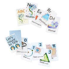 For Bryon next Father's Day?    NERD FLASHCARDS | Nerdy Baby Flash Cards, Young Scientist ABCs, Alphabet Cards, Let's Count to Ten Numbers Cards | UncommonGoods