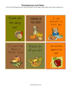 Happy Thanksgiving Lunch Notes