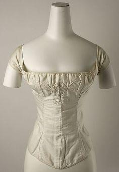 Corset    Date: 1820–30  Culture American  Medium cotton