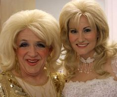 Leslie Jordan and Georgette Jones as respectively Tammy-Wynette-impersonator and Tammy Wynette in Sordid Lives.