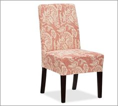 chair covers, potteri barn, kitchen idea, barns, napa side, pottery barn, print, side chairs, dining room chairs