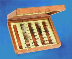 Bamboo fly box...hold 150 flies!
