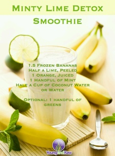 Minty Lime Detox Smoothie. Young and Raw.
