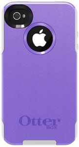 OtterBox Commuter Series for iPhone 4/4S – 1 Pack – Carrying Case – Purple 10/White