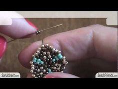 Peyote Stitch Tutorial: how to make bead earrings - circular peyote stitch | Beading Tutorial   http://www.sararmoniasara.com .____. http://www.beadsfriends.com  Facebook ------°°°° http://www.facebook.com/BeadsFriends  To contact me, send an email to sara@beadsfriends.com