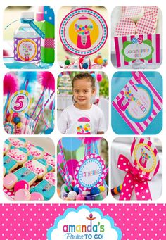 Candy Sweet Shoppe Party Printables Set by AmandasPartiesToGo