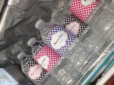 Campaigning for Homecoming court --- water bottles
