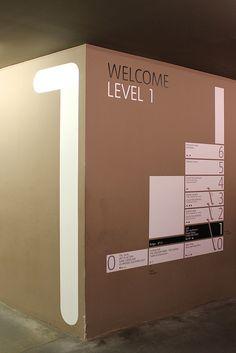 Floor directory corner wall sign