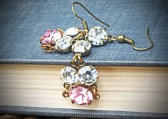 vintage swarovski rhinestone earrings- think these would be pretty for Easter...