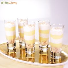 """Lemon """"Merengue"""" Shooters by Carla Hall! #TheChew #Dessert"""