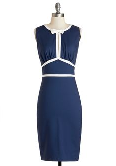 Curious Cocktails Dress. Is that taste rosemary or thyme in your delicious drink? #blue #modcloth