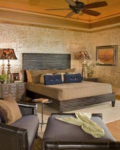 tropical bedroom by Saint Dizier Design