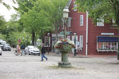 Downtown Nantucket in early summer