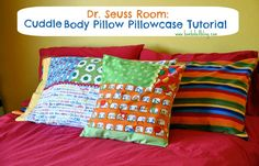 Cuddle™ Body Pillow Pillowcase Tutorial by @Sarah Chintomby McKenna of Bombshell Bling