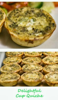 Delightful #Cup_Quiche.  9 Eggs, 1 1/2 cup Whole Milk, 1 1/2 cup Grated Cheese (Sharp White Chedder or any preferred), 1 cup minced Onions, ...