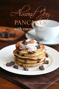 Almond Joy Pancakes - Low Carb and Gluten-Free