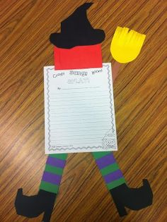 A Witch Crash craftivity and writing ideas for narrative writing!All templates, writing pages and instructions are included.$