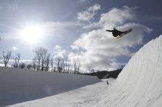 Okemo Mountain Resort's Amp Energy Superpipe made its season debut on Saturday, Jan. 18, as the first halfpipe to open in the East.