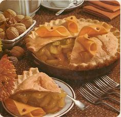 Apple pie with cheese.