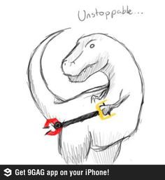 T rex unstoppable 9gag