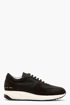 COMMON PROJECTS Black Track Running Shoes