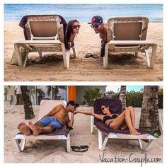 Adorable photo of Kristin  Shadi, aka The Vacation Couple, relaxing at Secrets Aura Cozumel!