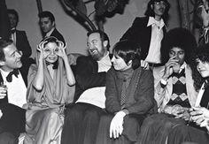 Halston, Bianca Jagger, Jack Haley Jr., Liza Minnelli, and Michael Jackson at Studio 54, 1978. Photo: Robin Platzer/Twin Images