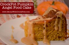 Crock Pot Pumpkin Angel Food Cake With Caramel Sauce