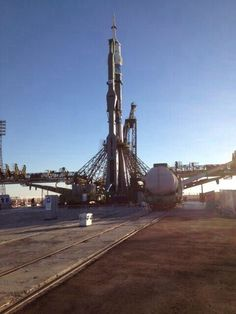 Expedition 38 Soyuz is getting ready to launch. #spacecaching