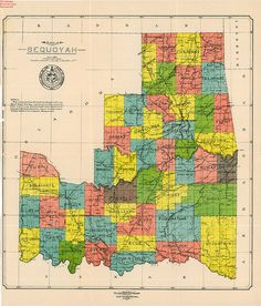 Proposed State of Sequoyah Map by Oklahoma Historical Society - Research, via Flickr
