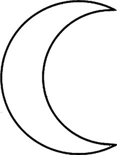 Crescent shape coloring page coloring pages for Crescent moon coloring page