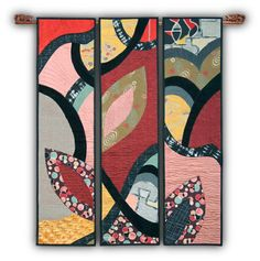 Japonisme Triptych by Connie Rohman