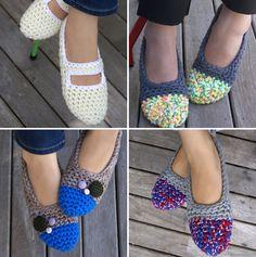 Zapatillas de crochet patrones - Imagui