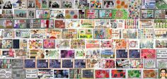 Huge and awesome mail art collection by Robyn Wells #postcards #mixedmedia