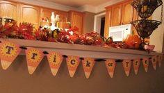 Printable Candy Corn #Banner for #Halloween @judysturman #candy #corn #halloween