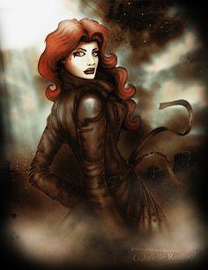 Crime Noir Digital Illustration by gabby redford, via Behance