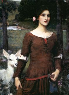 John William Waterhouse: The Lady Clare waterhous paint, encor des, des imag, art 17001900, john william waterhouse, ladi clare