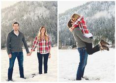 Wintery engagement pics