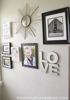 Gallery Wall by Blooming Homestead