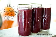 Jellied Cranberry Sauce on www.foodiewithfamily.com