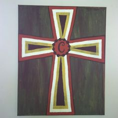 Cross canvas I painted.