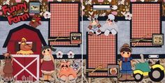Funny Farm 2 Premade Scrapbook Pages Paper Piecing Scrapbooking 4 Album Cherry | eBay
