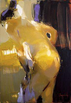 """Changing Room 2: Series Bathers,"" original figurative painting by artist Iryna Yermolova (UK) available at Saatchi Art #SaatchiArt."